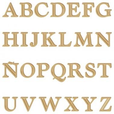 Wood Shape Alphabet 005 Castellar uppercase