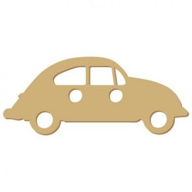 Wooden Button 007 Car