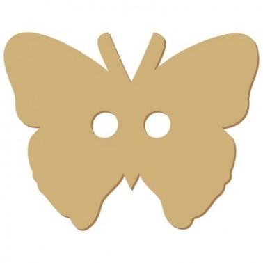 Wooden Button 010 Butterfly