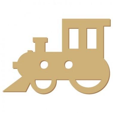 Wooden Button 012 Train