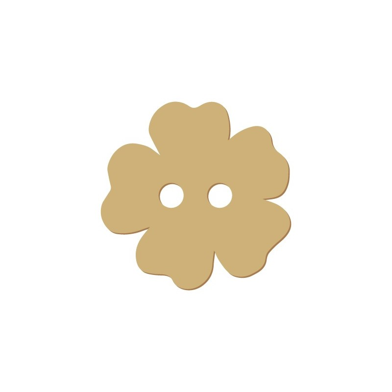Wooden Button 013 Flower