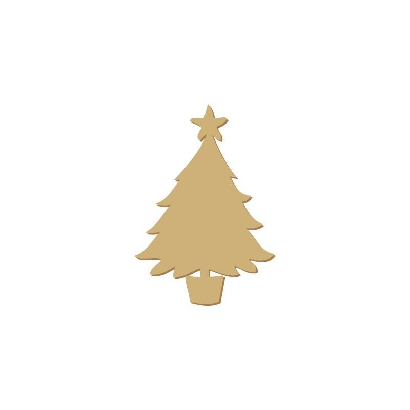 Wooden Silhouette Festivity 001 Star