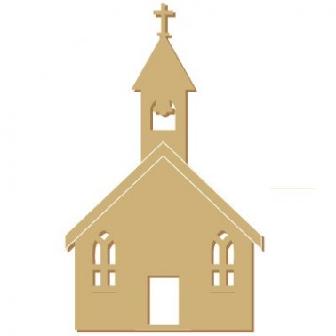 Wooden Silhouette Festivity 020 Church