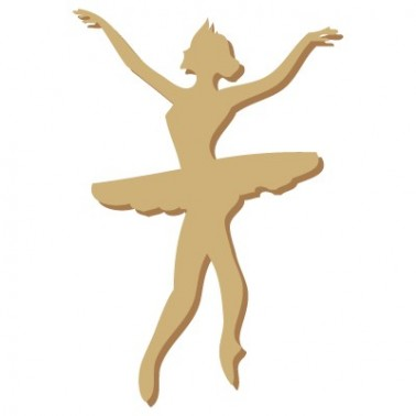 Wooden Silhouette 004 Ballet Dancer