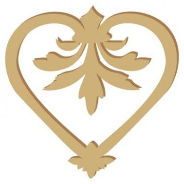 Wooden Silhouette 008 Heart