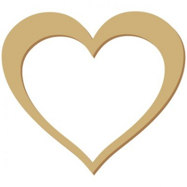 Wooden Silhouette 046 Heart