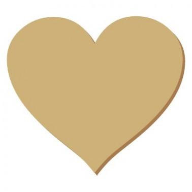 Wooden Silhouette 047 Heart