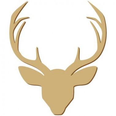 Wooden Silhouette 101 Deer Head