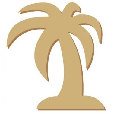 Wooden Mini Silhouette 008 Palm Tree