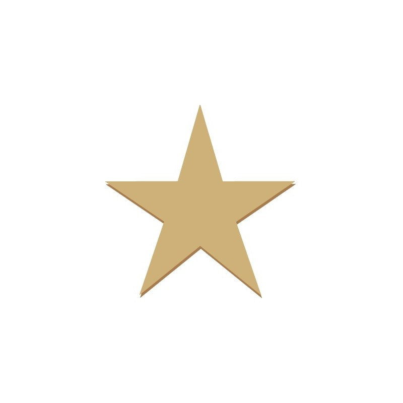 Wood Shape Mini 020 Star