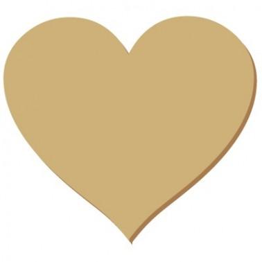 Wooden Mini Silhouette 025 Heart