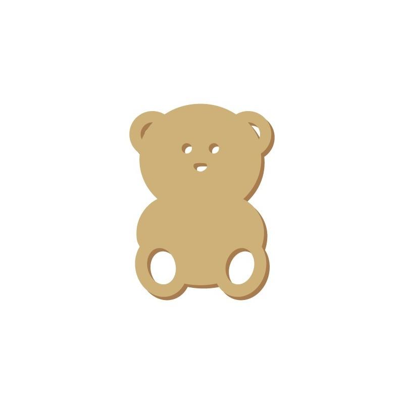 Wooden Mini Silhouette 031 Bear