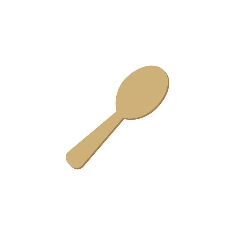 Wooden Mini Silhouette 039 Spoon