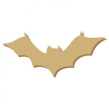 Wooden Mini Silhouette 054 Halloween Bat