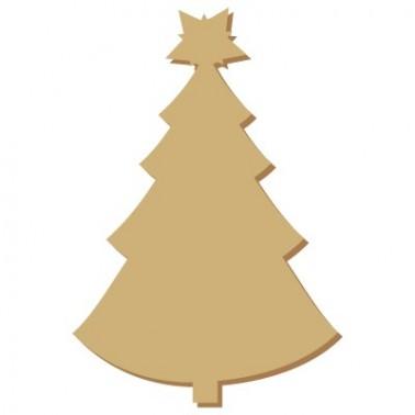 Wooden Mini Silhouette 059 Christmas Tree