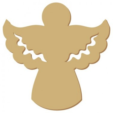 Wooden Mini Silhouette 060 Christmas Angel