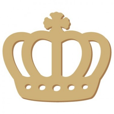 Wooden Mini Silhouette 074 Queens Crown
