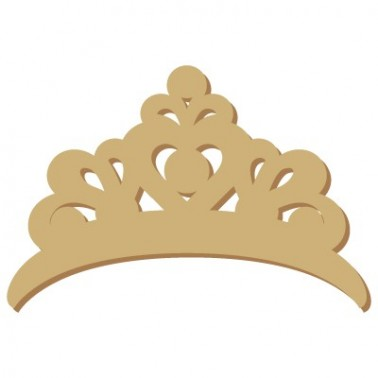 Wooden Mini Silhouette 075 Princess Crown