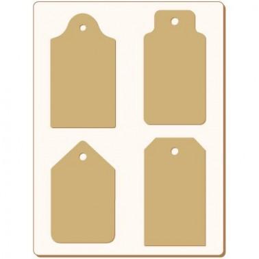 Cardboard Silhouette Set 007 Tags