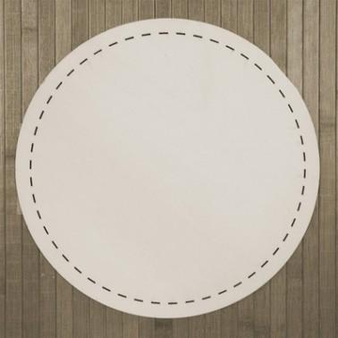 Wooden Plate 007 Backstitch Circle