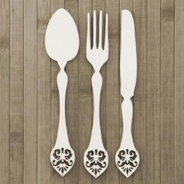 Wooden Plate 016 Cutlery