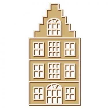Wooden Plate 035 Dutch House 2