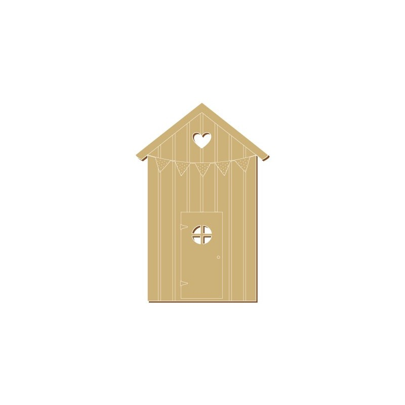 Wooden Plate 049 Beach House 1