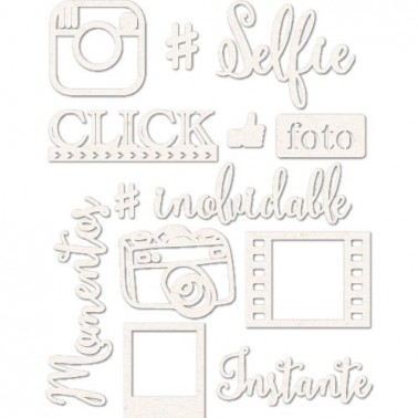 Set Siluetas Cartón 021 Selfie