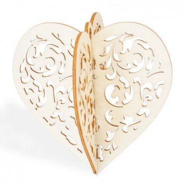 3D Wood 020 Christmas Heart