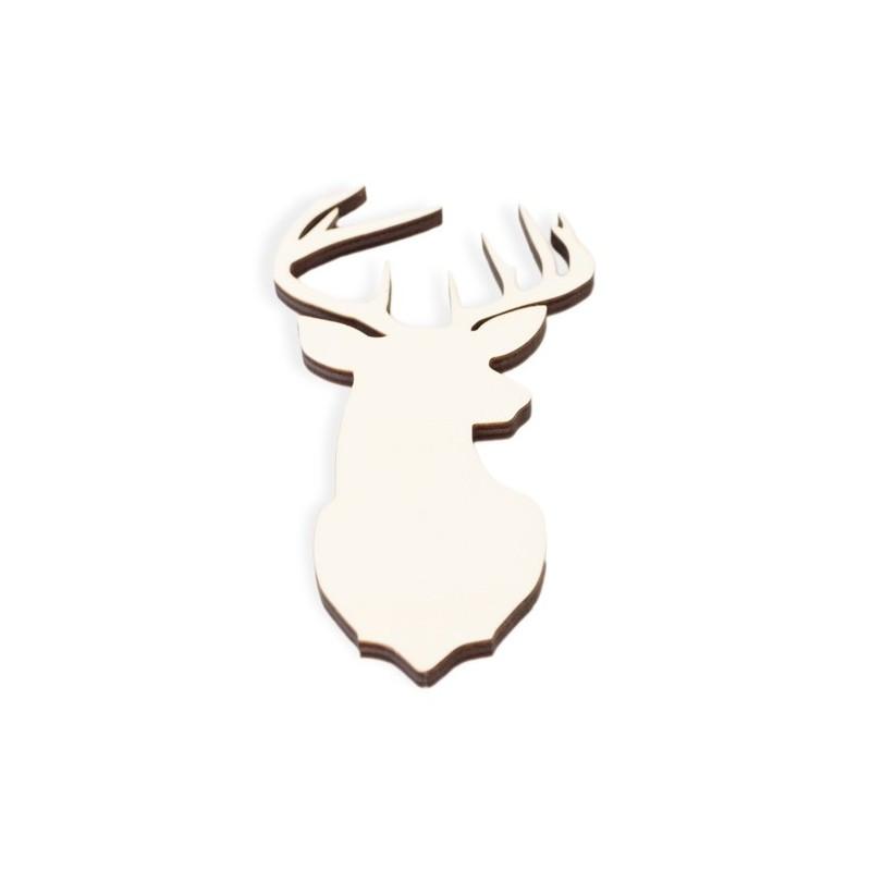 Wooden Plate 064 Deer