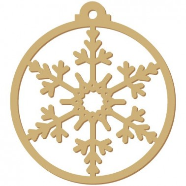 Wooden Silhouette Festivity 007 Christmas Snowflake