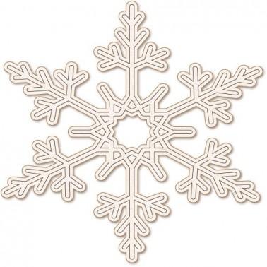 Wooden Silhouette Festivity 029 Snowflake