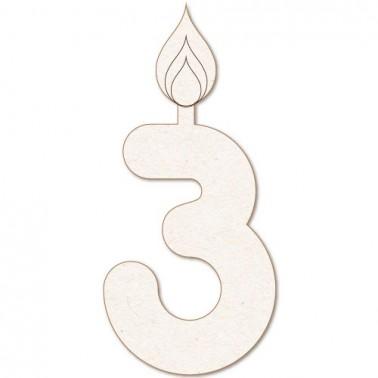 Wooden Silhouette Festivity 033 Candle num. 3