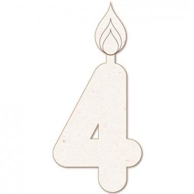 Wooden Silhouette Festivity 034 Candle num. 4