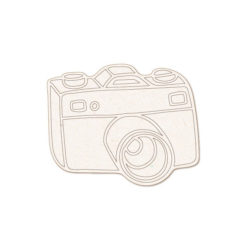 Wooden Silhouette 159 Photo Camera
