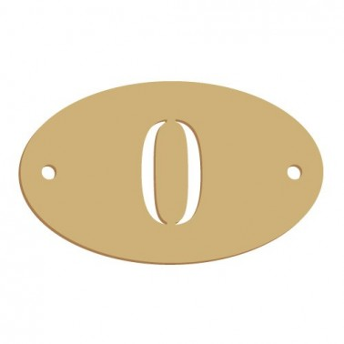 Wooden Alphabet 005 Numbers Ovals