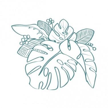 Sello Caucho Mya 0007 Flores Tropicales