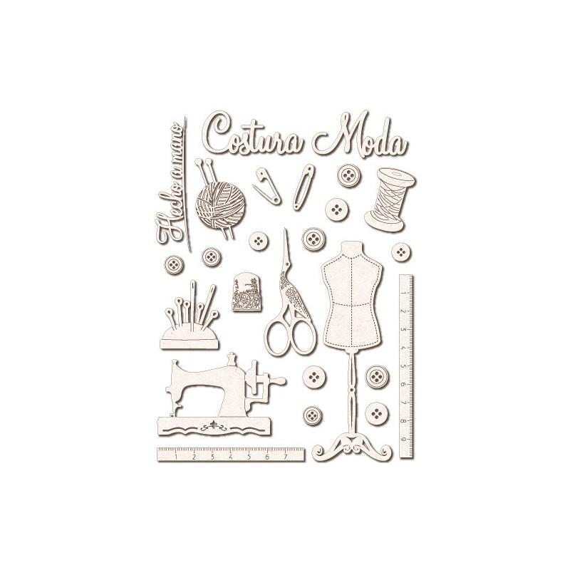 Chipboard Silhouettes set 025 Dressmaking
