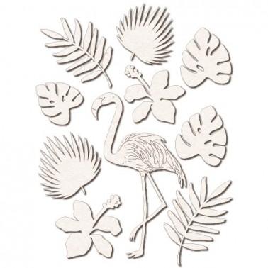 Chipboard Silhouettes set 026 Flamingo