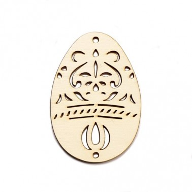 Wood Silhouette 055 Easter Egg
