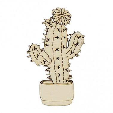 Wooden Silhouette 220 Cactus Pot