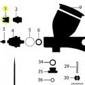 Recambio Aerografo Elite Q5 Tapa de Aguja