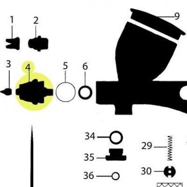 Recambio Aerografo Elite Q5 Obturador