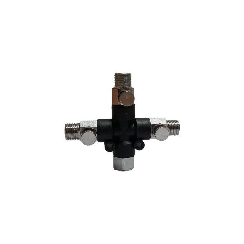 Conector 1/8 a 3 salidas 1/8 con regulador