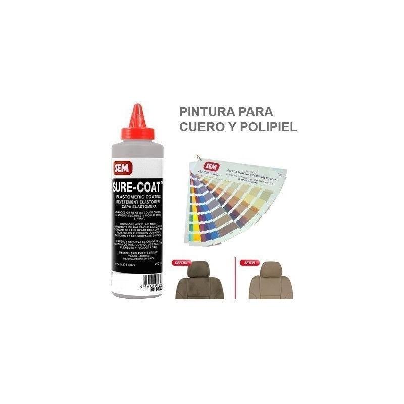 Pintura Cuero Sure Coat Plata